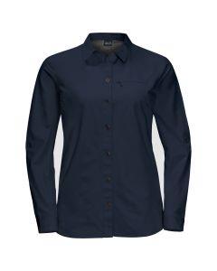 Jack Wolfskin Lakeside Roll-Up Shirt Skjorte m/lange ærmer - Dame