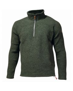 Ivanhoe Brodal Uld Pullover m/zip i farve Loden Green