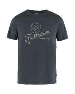 Navy Fjällräven Sunrise T-Shirt - Herre (Fjällräven)