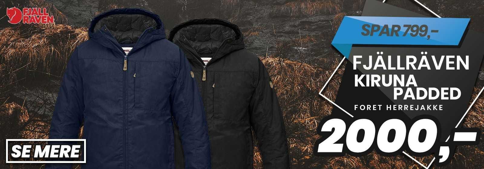 FJÄLLRÄVEN KIRUNA PADDET JACKET - Gode vintertilbud hos Outdoorxperten.dk